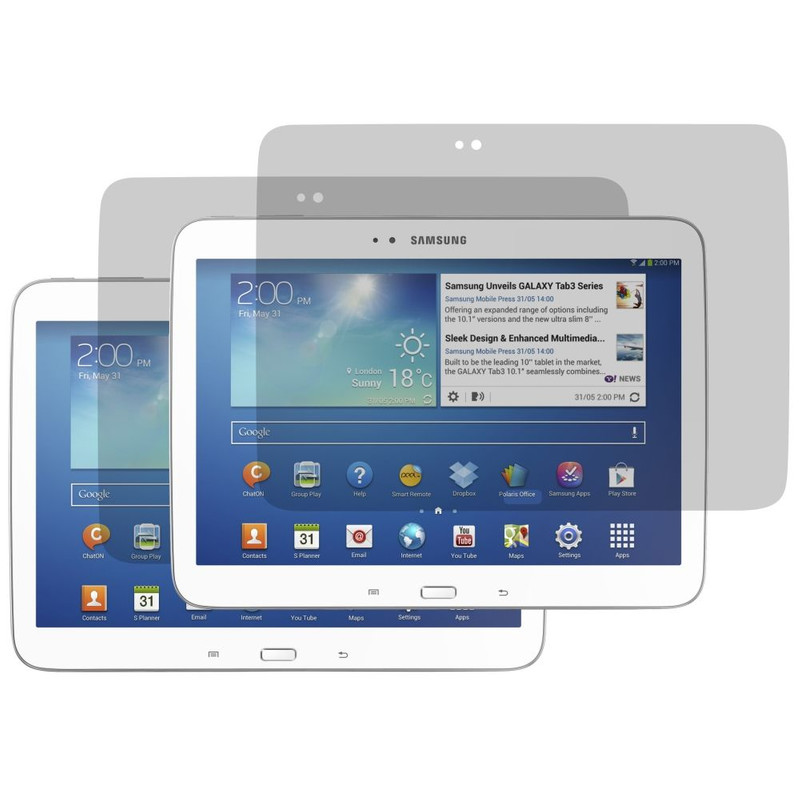 Mobilize Screenprotector Samsung Galaxy Tab 3 10.1 Duo Pack