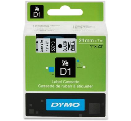 Dymo D1 Naamlabels Zwart-Wit (24mm x 7 m)