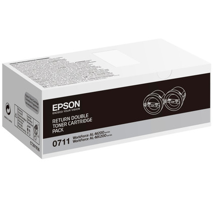 Epson AL-M200/MX200 Toner Zwart Dual Pack