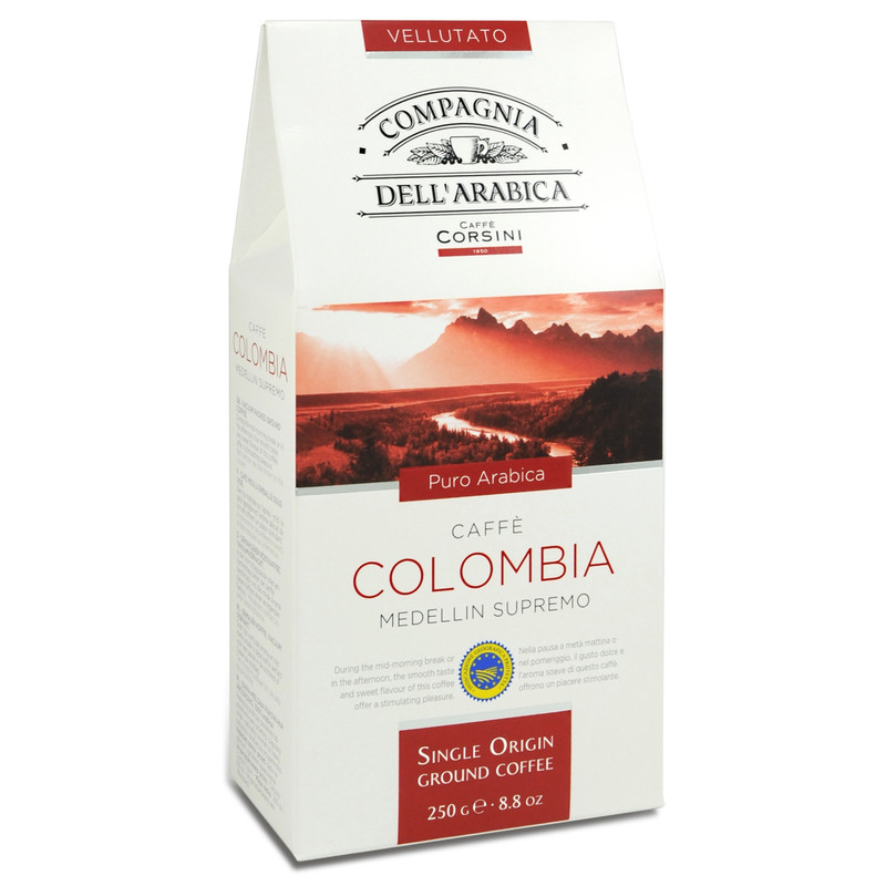 Caffe Corsini Gemalen Koffie Colombia 6 X 250 Gram