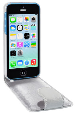 Artwizz SeeJacket Leather Flip Case iPhone 5C Wit