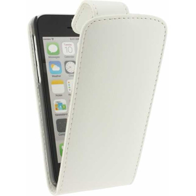 Xccess Leather Flip Case Apple iPhone 5C White