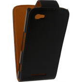 Xccess Leather Flip Case Sony Xperia M Black