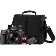 Nikon D7100 + 18-105 VR lens + geheugen + tas + accu