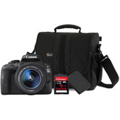 Canon EOS 100D + 18-55mm + geheugen + tas + accu