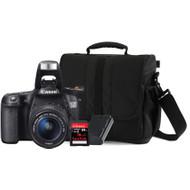 Canon EOS 70D + 18-55mm + geheugen + tas + accu