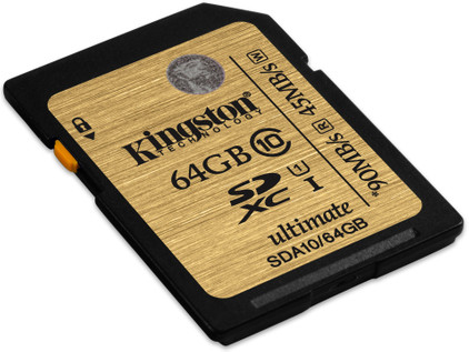 Kingston SDXC Ultimate 90 mb/s 64 GB Class 10