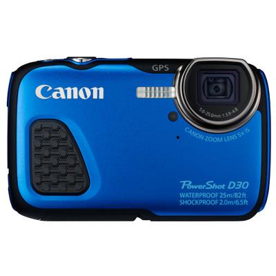 Image of Canon Foto Camera PowerShot D30 12.1 Megapixel, GPS (blauw)