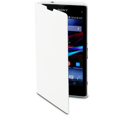 Muvit Sony Xperia Z1 Compact Easy Folio Card Case White
