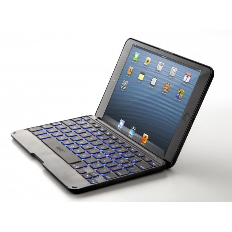 Zaggkeys Folio Apple Ipad Mini / 2 / 3 With Backlit Keyboard Qwerty Black