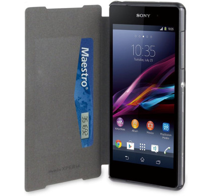 Muvit Ultra Slim Folio Card Case Sony Xperia Z2 Black