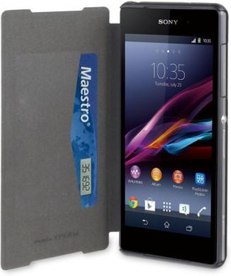 Muvit Ultra Slim Folio Card Case Sony Xperia Z2 Zwart