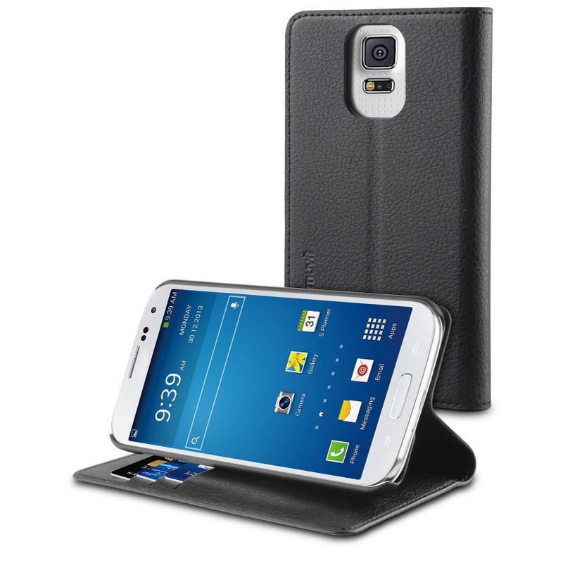 Muvit Wallet Stand Case Samsung Galaxy S5 Zwart