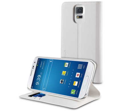 Muvit Wallet Stand Case Samsung Galaxy S5 White