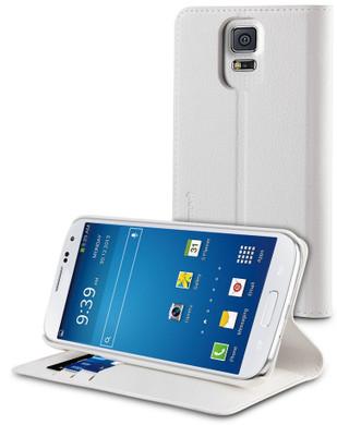 Muvit Wallet Stand Case Samsung Galaxy S5 Wit
