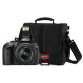 Nikon D5300 + 18-55mm VR + geheugen + tas