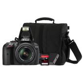 Nikon D5300 + 18-55mm VR + geheugen + tas + accu
