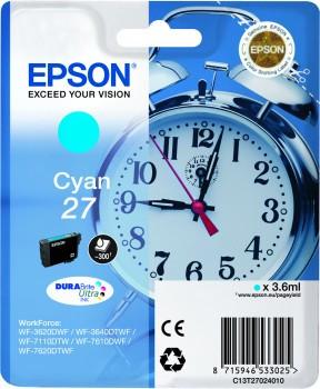 Epson 27 Cartridge Cyaan C13T27024010