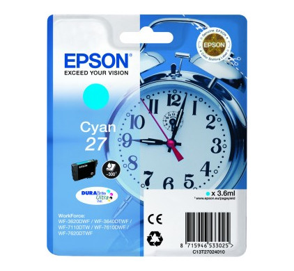 Epson 27 Cartridge Cyaan C13T27024010