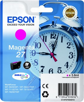Epson 27 Cartridge Magenta C13T27034010
