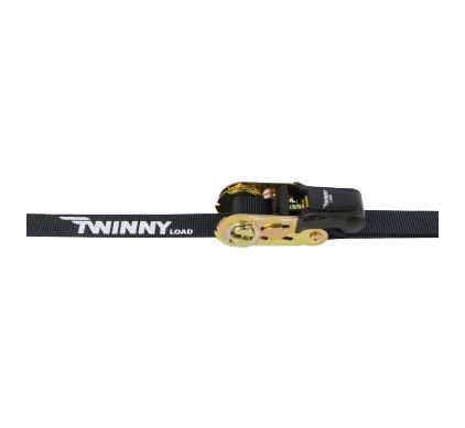 Twinny Load Spanband 1X 5M Met Ratel En Haak Zwart