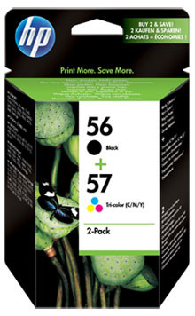 HP 56/57 Cartridge Zwart + Combo Pack 3-Kleuren (SA342AE)