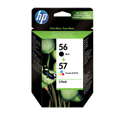 HP 56/57 Cartridge Zwart + Combo Pack 3-Kleuren (SA342AE)