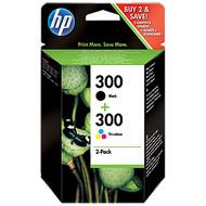 HP 300 Cartridge Zwart + Combo Pack 3-Kleuren (CN637EE)