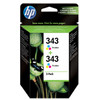 HP 343 Double Combo Pack 3-Kleuren (CB332EE)