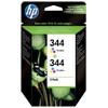 HP 344 Double Combo Pack 3-Kleuren (C9505EE)