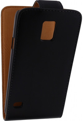 Xccess Leather Flip Case Samsung Galaxy S5 Zwart