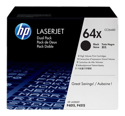 HP 64XD Toner Zwart Dual Pack (CC364XD)