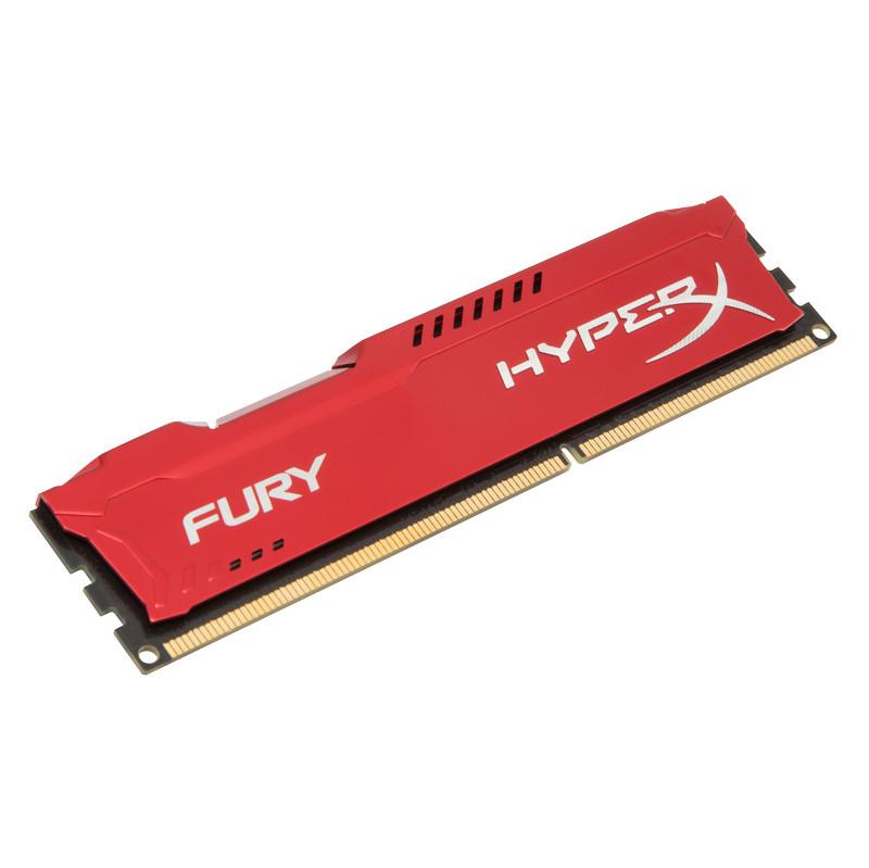 Kingston HyperX Fury 4 GB DIMM DDR3-1600 rood