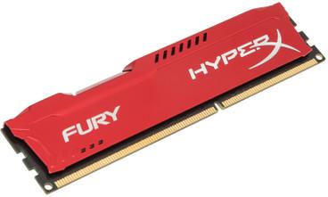 Kingston HyperX FURY 8 GB DIMM DDR3-1866 rood