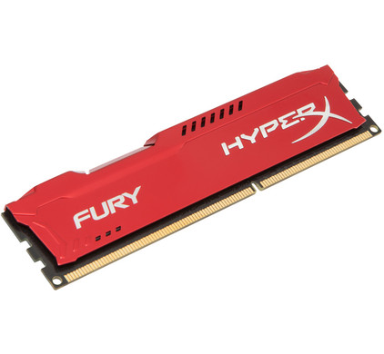 Kingston HyperX Fury 4 GB DIMM DDR3-1600 rood