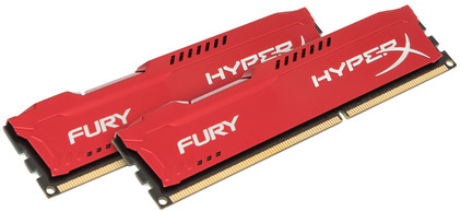 Kingston HyperX FURY 8 GB DIMM DDR3-1866 rood 2 x 4 GB