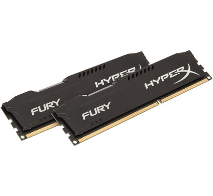 Kingston HyperX FURY 16 GB DIMM DDR3-1600 zwart 2 x 8 GB