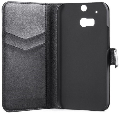 Xqisit Slim Wallet Case HTC One M8 Zwart