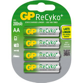 GP ReCyko+ oplaadbare AA 4 x