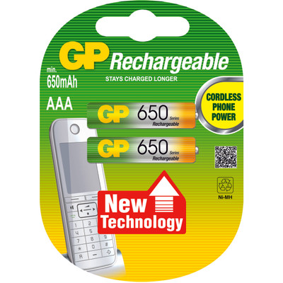 GP Batteries NiMH rechargeable batteries AAA