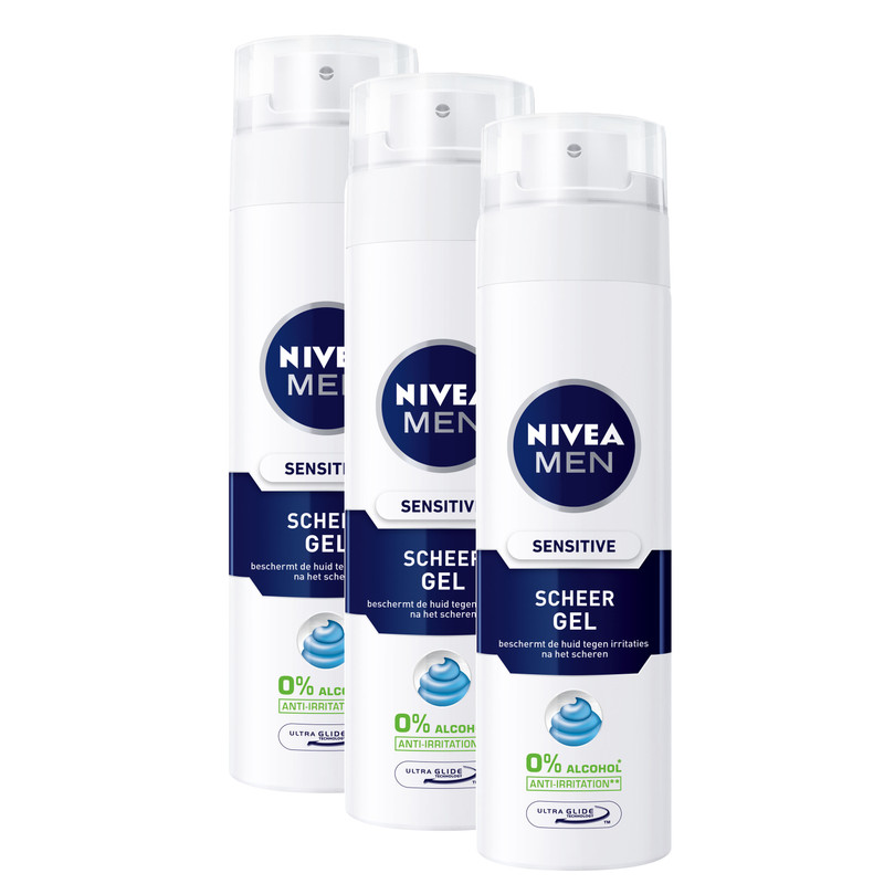 3x Nivea Men Sensitive Scheergel
