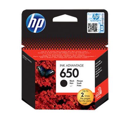 HP 650 Cartridge Zwart (CZ101A)