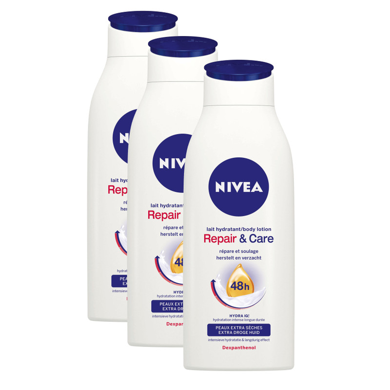 3x Nivea RepairandCare Body Lotion 400ml