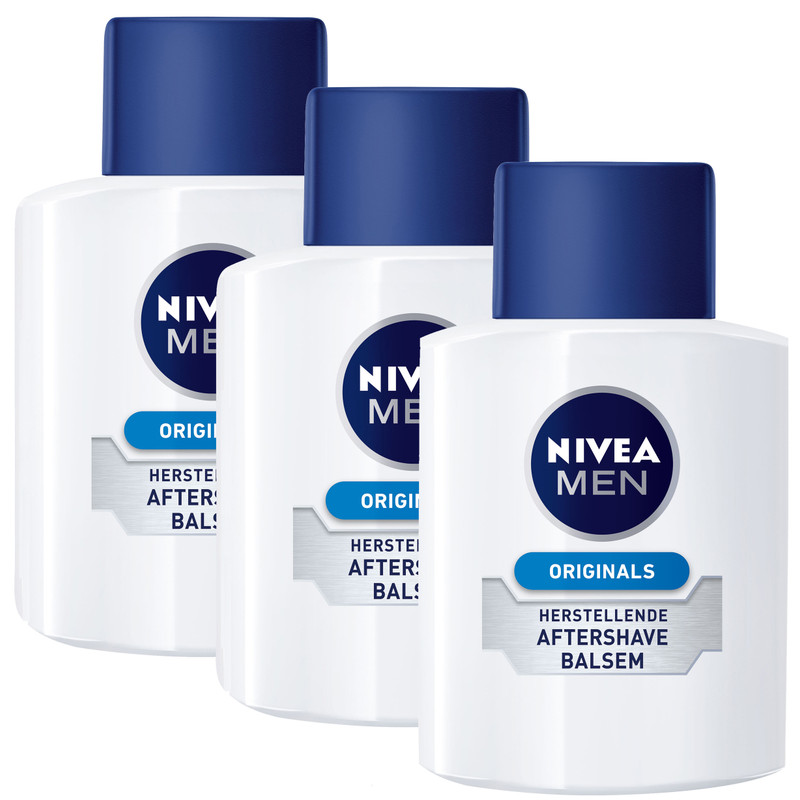 3x Nivea Men Originals Aftershave Balsem