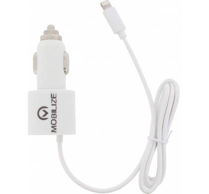 Mobilize Autolader Apple Lightning + USB 4,2A