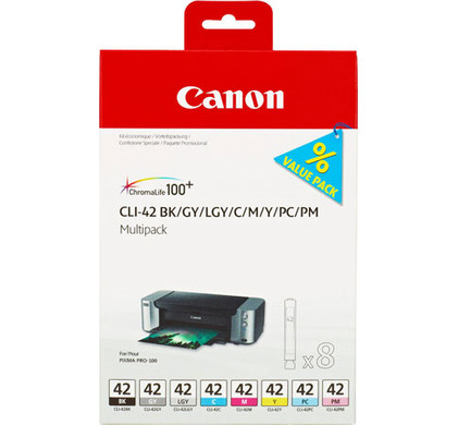 Canon CLI-42 Value Pack 8-Kleuren (6384B010)