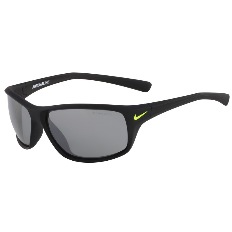 Nike Adrenaline Matte Black/grey Silver Flash Lens