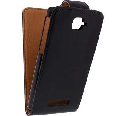 Xccess Leather Flip Case Alcatel One Touch Pop C7 Black