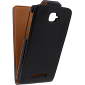 Xccess Leather Flip Case Alcatel One Touch Pop C7 Zwart