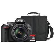 Nikon D5200 + geheugen + tas